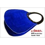 ★dean(ディーン) machine stitch tear-drop ショルダーバッグ elctlic blue(青)の画像