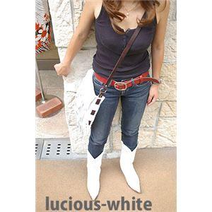 ★dean(ディーン) fringe bag ショルダーバッグ 斜めがけバッグ 白の画像