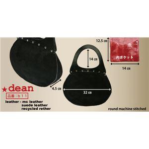 ★dean(ディーン) round machine ハンドバッグ オレンジ ハンドル/茶