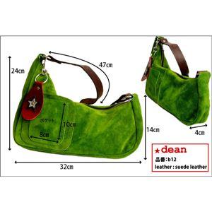 ★dean(ディーン) medium shoulder ハンドバッグ olive(緑) f05