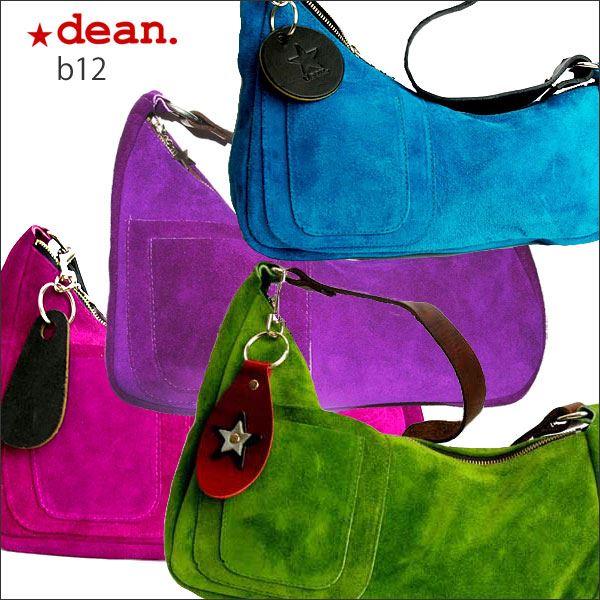 ★dean(ディーン) medium shoulder ハンドバッグ elctlic blue(青)f00