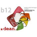 ★dean(ディーン) medium shoulder ハンドバッグ ピンク ハンドル/ブラウン
