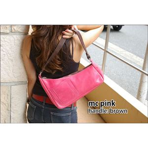 ★dean(ディーン) medium shoulder ハンドバッグ ピンク ハンドル/ブラウン h02