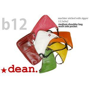 ★dean(ディーン) medium shoulder ハンドバッグ ピンク ハンドル/ブラックの画像