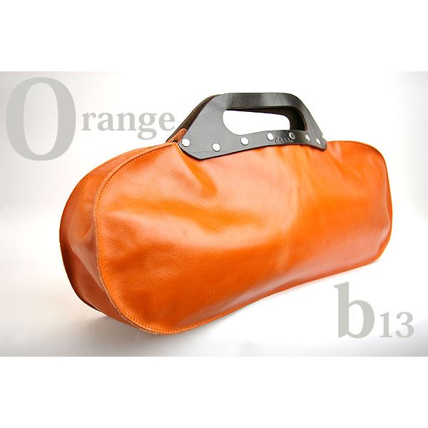 ★dean(ディーン) machine stitched oblong ハンドバッグ オレンジf00