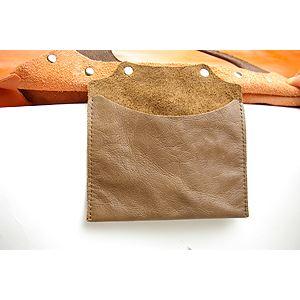 ★dean(ディーン) machine stitched oblong ハンドバッグ オレンジ