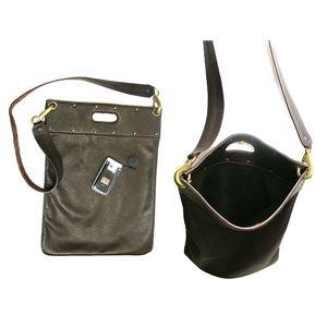 ★dean(ディーン) flat sack レザーバッグ 茶の画像