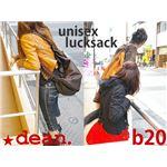 ★dean(ディーン) drow-string rucksack ショルダーバッグ 赤の画像