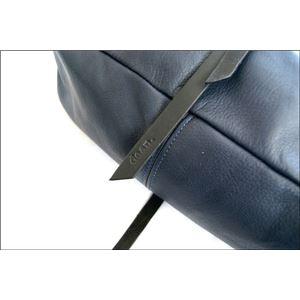 ★dean(ディーン) the braided-strap shoulder bag レザーバッグ ネイビー ハンドル/黒 f04