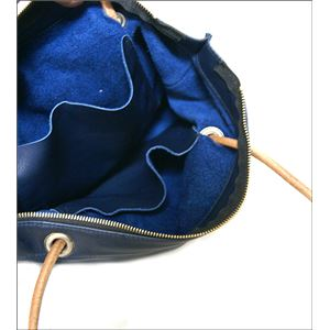 ★dean(ディーン) knotted handle tote レザーバッグ ネイビー