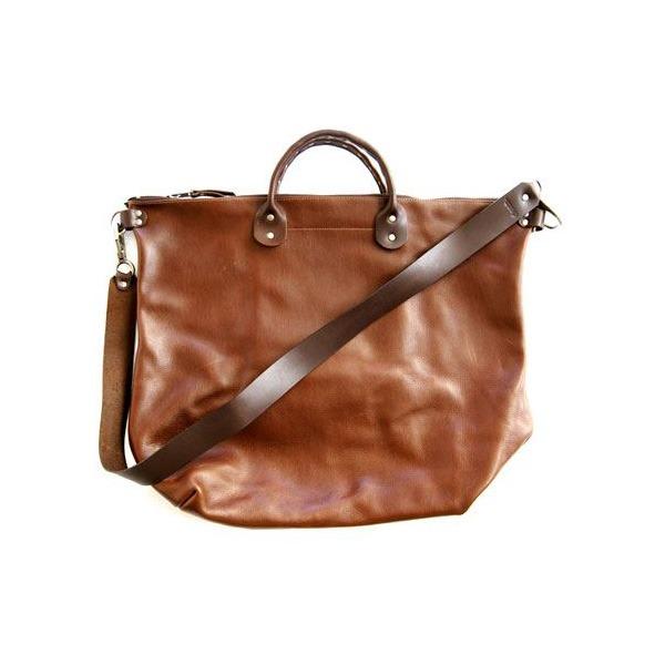★dean(ディーン) Studded Handle Railway Bag トートバッグ 茶f00