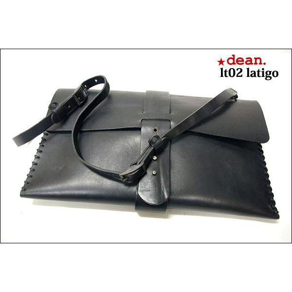 ★dean(ディーン) laptop bag レザーバッグ 黒f00