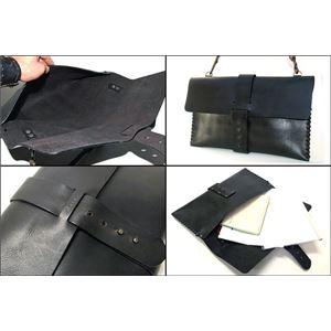 ★dean(ディーン) laptop bag レザーバッグ 黒