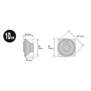 純正オーディオ交換用10cm3WAYスピーカー...の紹介画像3