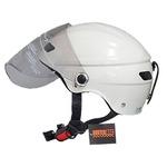 スタイリッシュな開閉式シールド付きハーフヘルメット