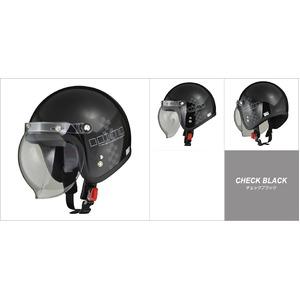 MOUSSE (ムース) ジェットヘルメット チェックブラック