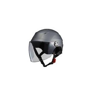 SERIO(セリオ)RE-40シールド付きハーフヘルメットスモ―キーシルバー