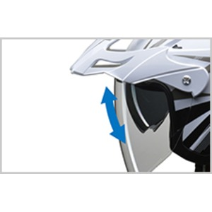 バイザーの脱着が可能!! AIACE(アイアス) アドベンチャーヘルメット LLサイズ ホワイト