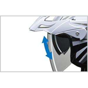 バイザーの脱着が可能!! AIACE(アイアス) アドベンチャーヘルメット LLサイズ シルバー