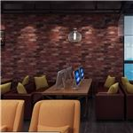【WAGIC】(10m巻)リメイクシート シール壁紙 プレミアムウォールデコシートR-WA114 赤茶系 レンガ 倉庫街風