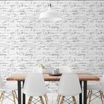 プレミアムウォールデコシート/DIY壁紙シール 【6m巻】 R-WA122 レンガ ダメージ ブラック系