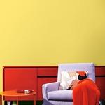 プレミアムウォールデコシート/DIY壁紙シール 【6m巻】 C-WA204 カラー イエロー