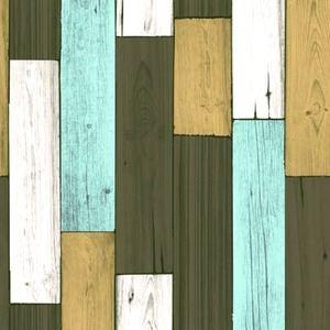壁紙シール/プレミアムウォールデコシート 【6m巻】 W-WA318 カントリーウッド ダークパステル系