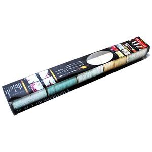 【アウトレット(訳あり)】プレミアムウォールデコシート/DIY壁紙シール 【6m巻】 P-WA406 ダマスク ゴールド