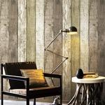 壁紙シール♪DIY壁紙新時代!プレミアムウォールデコシート30m巻|W-WA304 ウッド ヴィンテージ ブラウン系