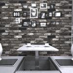 プレミアムウォールデコシート/DIY壁紙シール 【30m巻】 R-WA111 レンガ グラデーション グレー系
