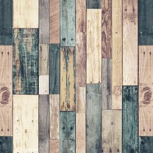 【アウトレット(訳あり)】プレミアムウォールデコシート/DIY壁紙シール 【30m巻】 W-WA323 ウッド オールド グリーンミックス系