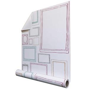 【WAGIC】(10m巻)リメイクシート 壁紙シール プレミアムウォールデコシート  P-WA402フレーム カラー