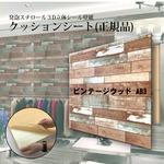 【WAGIC】(12枚組)木目調 おしゃれなクッションシート壁 ビンテージウッド柄 AB3