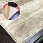 クッションブリック【モカブラウン】(12枚組)壁紙シール 壁用クッションレンガ 3D立体壁紙 れんがシート 煉瓦シート