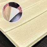 木目調 クッションシート壁【ナチュラルウッド】(12枚組)壁紙シール 壁用クッションパネルシート 3D立体壁紙 ウッドシート 壁紙シート