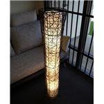 フロアライト(照明器具/スタンドライト) 竹製 アジアンテイスト スリム 〔リビング/ダイニング/寝室/玄関/和室照明〕