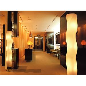 フロアライト(照明器具/スタンドライト) シンプルモダン/波形 〔リビング照明/ダイニング照明/寝室照明〕【電球別売】