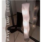 フロアライト(照明器具/スタンドライト) 波形/花柄 〔リビング照明/ダイニング照明/寝室照明〕