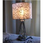テーブルランプ(照明器具/卓上ライト) 大理石風模様 ガラス/布/高級水晶 〔リビング照明/寝室照明/ダイニング照明/玄関〕
