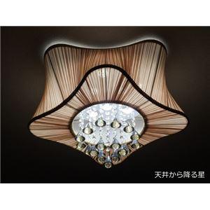 シーリングライト(照明器具) LEDタイプ/3500ルーメン 自然光色 星型モチーフ 〔リビング照明/ダイニング照明〕 - 拡大画像