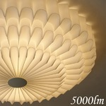 シーリングライト(照明器具) LEDタイプ/5000ルーメン 自然光色 花モチーフ ヨーロッパ調 〔リビング照明/ダイニング照明〕【電球付き】の写真