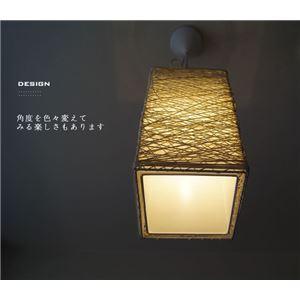ペンダントライト(吊り下げ型照明器具) 竹/バンブー製 アジアンテイスト 〔リビング照明/ダイニング照明/和室照明〕
