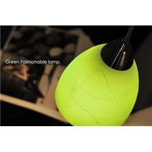ペンダントライト(吊り下げ型照明器具) ガラス製 グリーン(緑) 〔リビング照明/ダイニング照明/キッチン照明〕【電球別売】 - 拡大画像