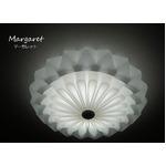シーリングライト(照明器具)LEDタイプ/4500ルーメン 自然光色 花モチーフ ヨーロッパ風 〔リビング照明/ダイニング照明〕【電球付き】の写真