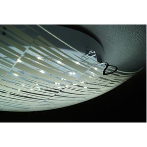 シーリングライト(照明器具) リモコン付き 調光調温 リモコン三段調節 金属/ガラス製 〔リビング照明/ダイニング照明〕【電球不要】