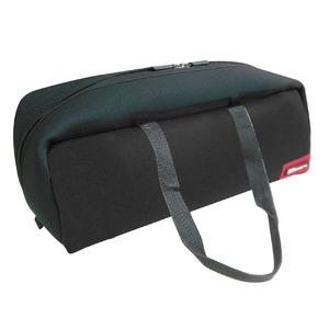 (業務用3セット)DBLTACT トレジャーボックス(作業バッグ/手提げ鞄) Lサイズ 自立型/軽量 DTQ-L-BK ブラック(黒) 〔収納用具〕