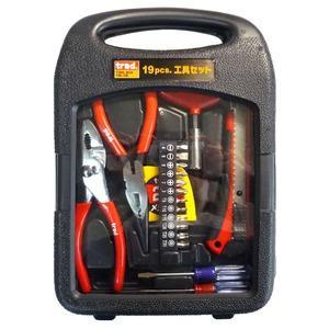 (業務用3セット)TRAD 工具セット/作業工具 【19個入】 TS-19 〔業務用/家庭用/DIY/日曜大工〕【×3セット】