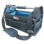 (業務用2個セット) DBLTACT オープンキャリーバッグ(ツールバッグ) 撥水加工 DT-SRB420M 420mm グリーン 〔DIY用品/大工道具〕