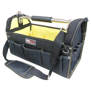 (業務用2個セット) DBLTACT オープンキャリーバッグ(ツールバッグ) 撥水加工 DT-SRB-420 420mm 黄色 〔DIY用品/大工道具〕