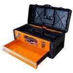 (業務用2個セット) TRAD ツールチェスト/ツールボックス 【2段】 強化PP・スチール製 TRD-TC2 オレンジ/黒 〔DIY用品/大工道具〕